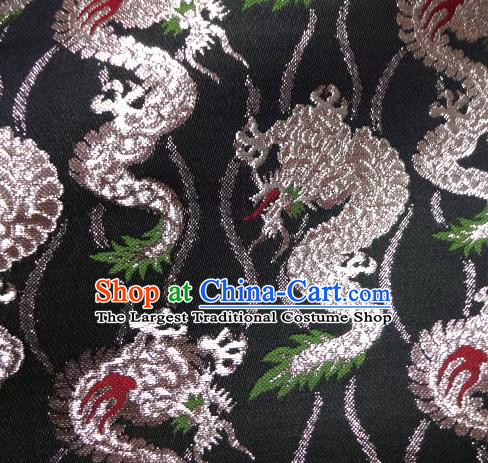 Asian Traditional Baldachin Classical Dragon Pattern Brocade Fabric Japanese Kimono Tapestry Satin Silk Material
