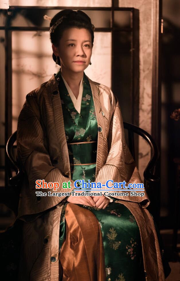 Drama The Story Of MingLan Chinese Song Dynasty Historical Costume Ancient Nobility Lady Embroidered Hanfu Dress for Women