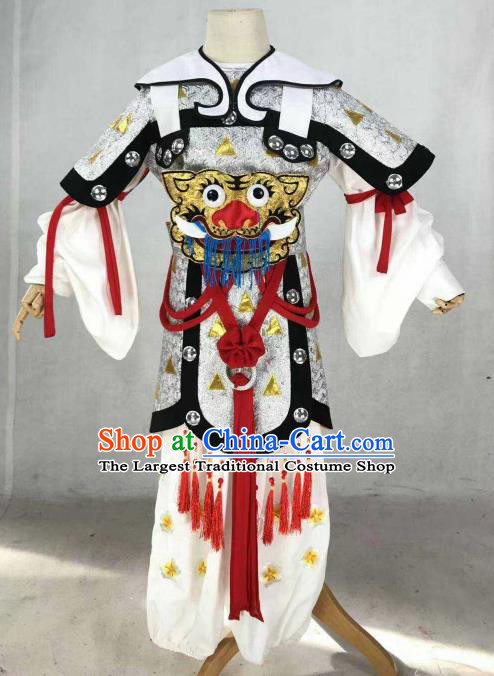 Chinese Traditional Beijing Opera Takefu Clothing Ancient Swordsman Tiger Costume for Men