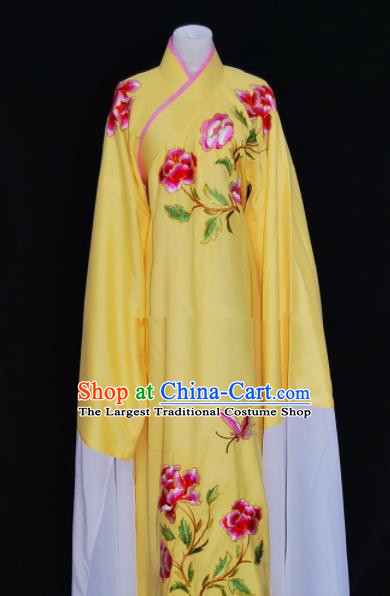 Chinese Traditional Beijing Opera Niche Yellow Robe Peking Opera Scholar Embroidered Costume for Men