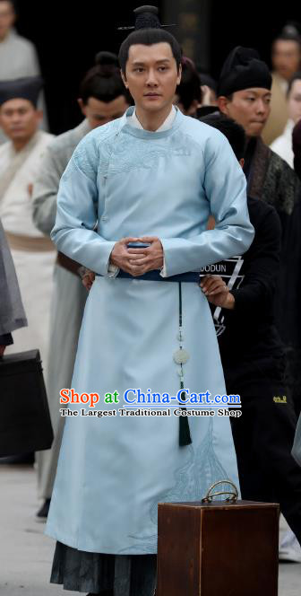 Chinese Ancient Song Dynasty Drama The Story Of MingLan Nobility Childe Historical Costume for Men