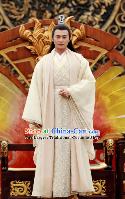 Drama Zhao Yao Traditional Chinese Ancient Prince Swordsman Replica Costume for Men