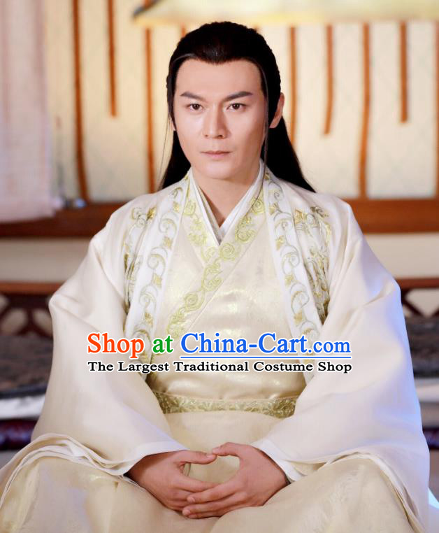 Drama Zhao Yao Traditional Chinese Ancient Nobility Childe Prince Embroidered Replica Costume for Men