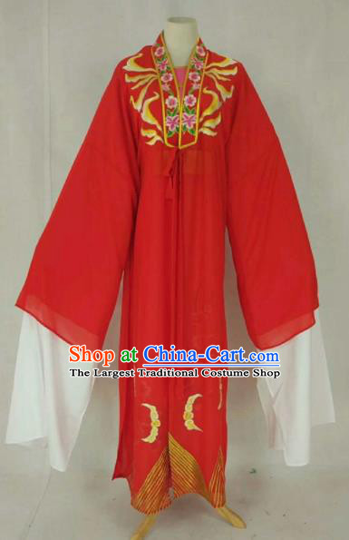 Chinese Traditional Beijing Opera Niche Red Cloak Ancient Scholar Embroidered Costume for Men