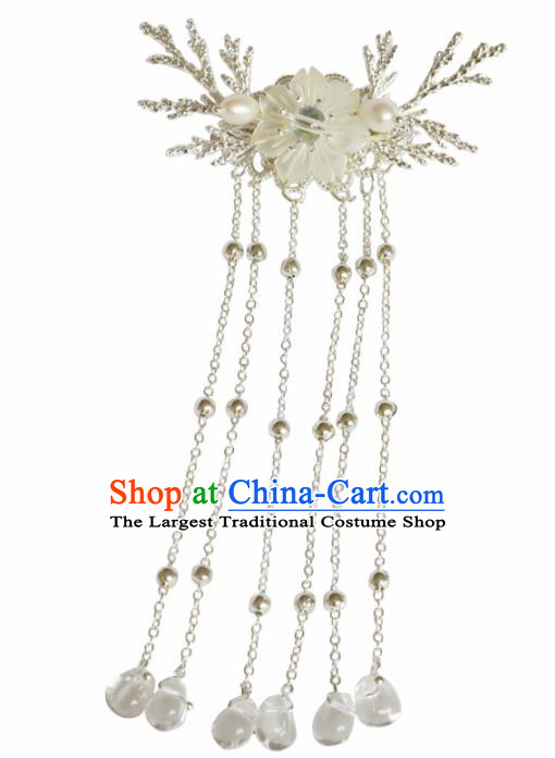 Chinese Traditional Hanfu Hair Accessories Hair Claw Ancient Princess Tassel Hairpins for Women