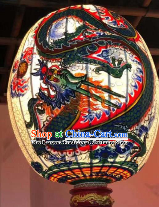 Chinese Traditional New Year Hanging Lantern Handmade Painting Dragon Palace Lanterns