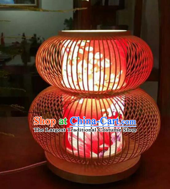 Chinese Traditional Desk Lantern Handmade New Year Bamboo Weaving Lanterns