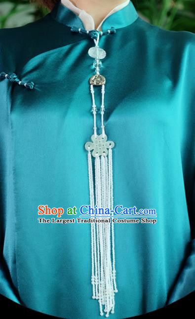 Chinese Traditional Jewelry Accessories Classical Pressure Front Tassel Grass Brooch for Women