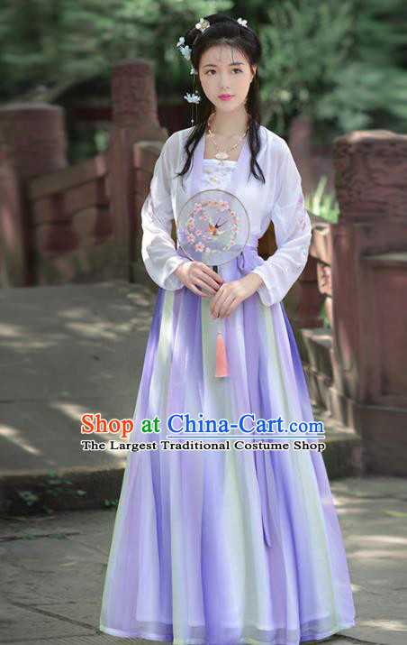 Chinese Ancient Princess Peri Traditional Hanfu Dress Tang Dynasty Female Historical Costume for Women