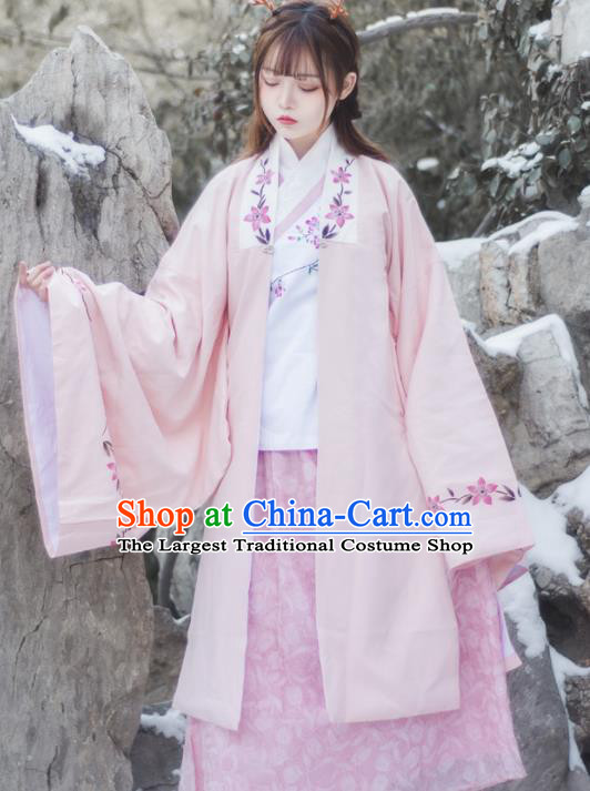 Chinese Ancient Ming Dynasty Aristocratic Lady Hanfu Dress Traditional Historical Costume for Women