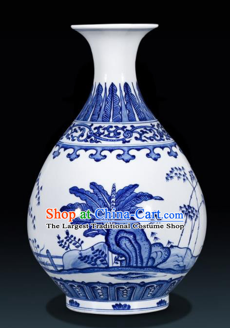 Chinese Jingdezhen Ceramic Craft Hand Painting Enamel Vase Handicraft Traditional Porcelain Vase