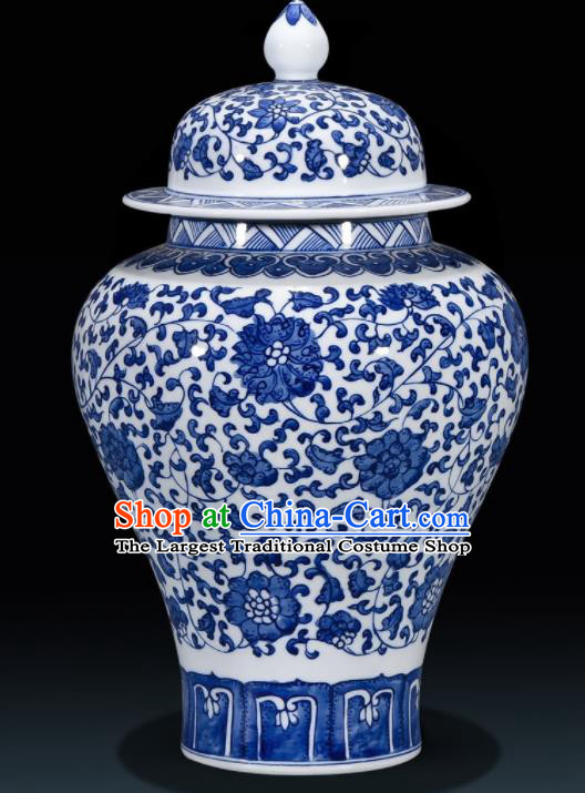 Chinese Jingdezhen Ceramic Craft Hand Painting Enamel Jar Handicraft Traditional Porcelain Vase