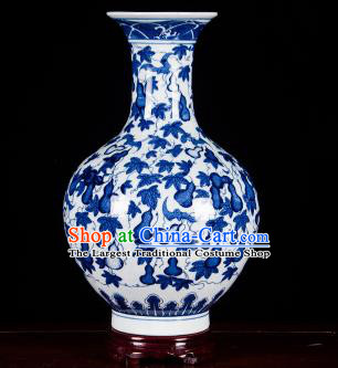 Chinese Jingdezhen Ceramic Craft Twine Pattern Design Vase Enamel Handicraft Traditional Porcelain Vase