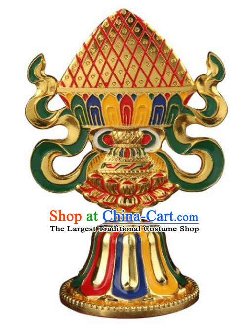 Chinese Traditional Buddhism Brass Decoration Vajrayana Buddhist Copper Handicraft