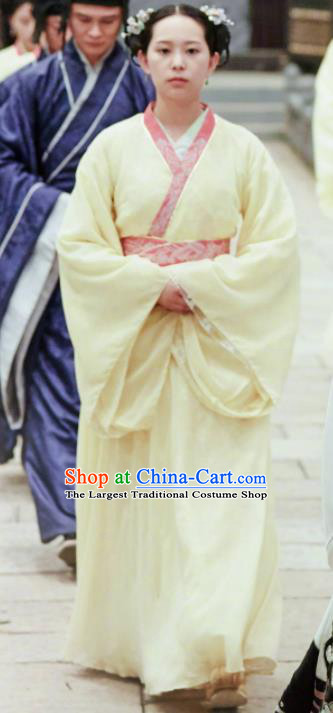 Drama Queen Dugu Chinese Traditional Ancient Sui Dynasty Court Maid Embroidered Historical Costume for Women