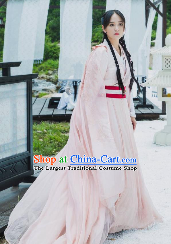 Chinese Ancient Swordswoman Hanfu Dress Traditional Sui Dynasty Empress Dugu Embroidered Historical Costume for Women