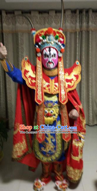 Chinese Beijing Opera Royalblue Clothing Traditional Sichuan Opera Face Changing Costume for Adults