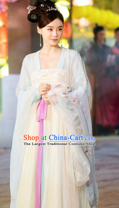 Traditional Chinese Tang Dynasty Imperial Concubine Embroidered Hanfu Dress Ancient Court Lady Replica Costume for Women