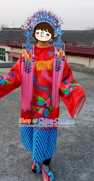 Chinese Traditional Beijing Opera Embroidered Costume Ancient Imperial Concubine Hanfu Dress for Women