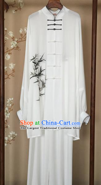 Chinese Traditional Kung Fu Competition Costume Martial Arts Tai Chi Printing Bamboo Clothing for Women