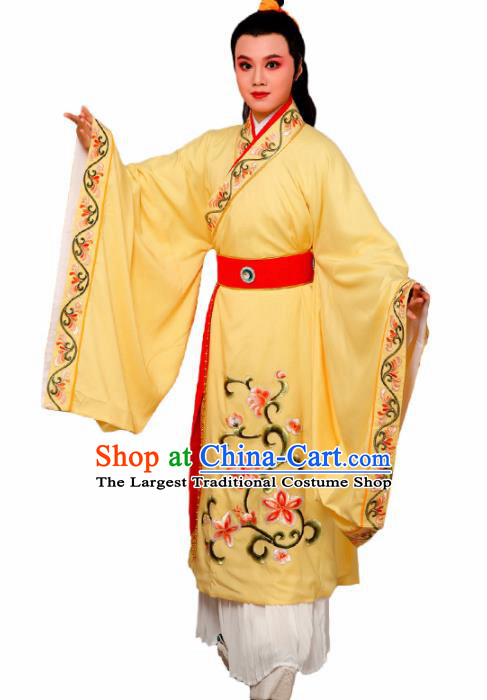 Chinese Traditional Peking Opera Nobility Childe Yellow Robe Beijing Opera Niche Costume for Men