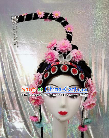 Chinese Traditional Beijing Opera Diva Wigs and Hairpins Peking Opera Peri Hair Accessories for Women