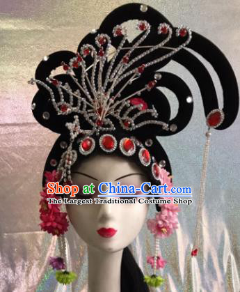 Chinese Traditional Beijing Opera Imperial Consort Wigs and Hairpins Peking Opera Peri Hair Accessories for Women