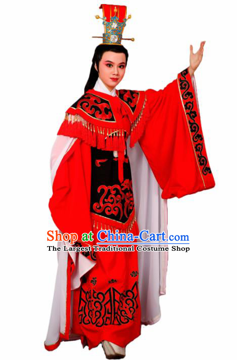 Chinese Traditional Peking Opera Prince Red Robe Beijing Opera Niche Embroidered Costume for Men