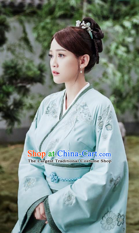 Drama Queen Dugu Chinese Ancient Sui Dynasty Empress Historical Costume and Headpiece for Women