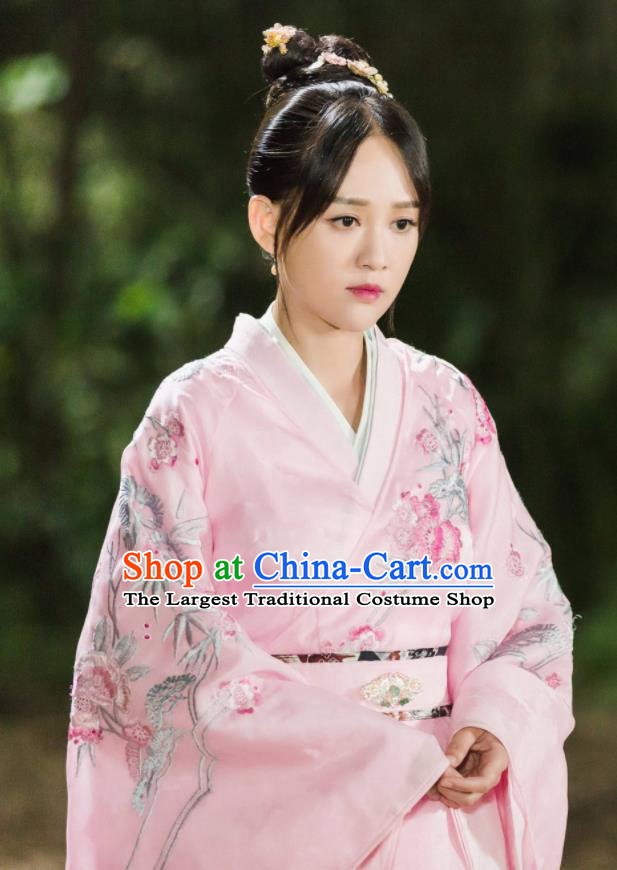 Chinese Drama Queen Dugu Ancient Sui Dynasty Empress Historical Costume and Headpiece for Women
