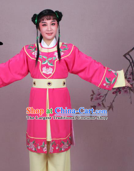Chinese Traditional Peking Opera Servant Rosy Clothing Beijing Opera Livehand Costume for Men