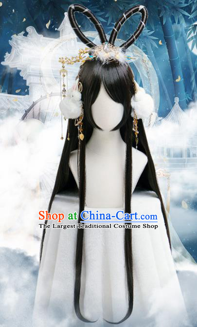 Chinese Traditional Cosplay Princess Wigs Ancient Moon Peri
