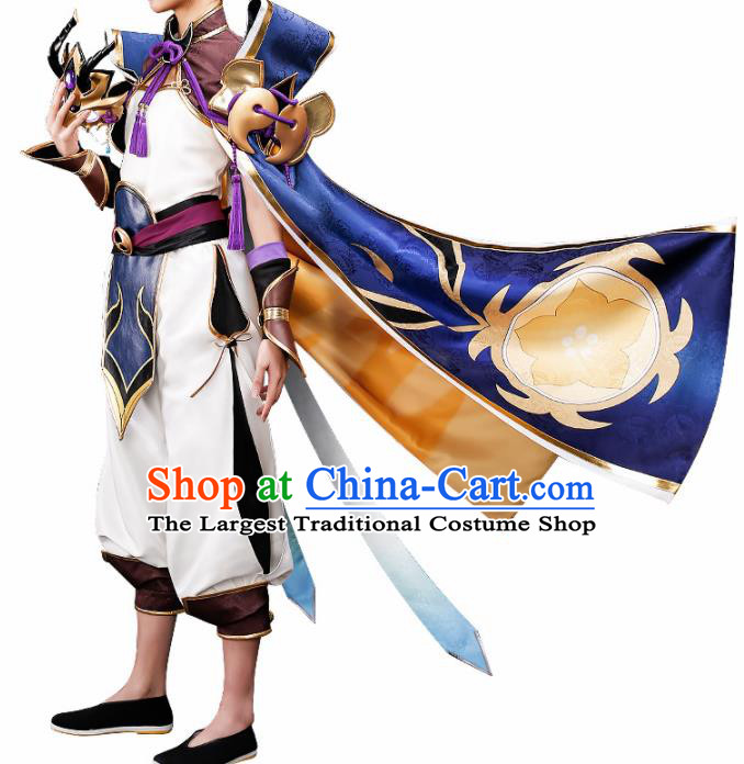 Chinese Traditional Ancient Swordsman Costume Cosplay Japanese Warrior Clothing for Men