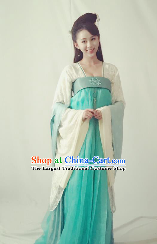 Drama Queen Dugu Ancient Hanfu Dress Chinese Sui Dynasty Princess Historical Costume for Women