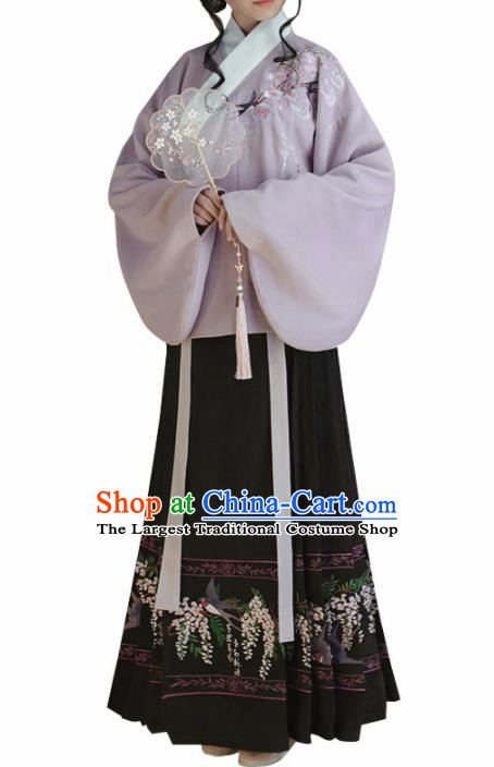 Chinese Traditional Ming Dynasty Hanfu Dress Ancient Nobility Lady Costume for Women