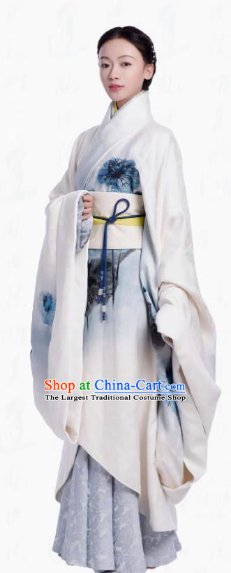 Ancient Chinese The Lengend of Haolan Warring States Period Imperial Consort Historical Costume for Women