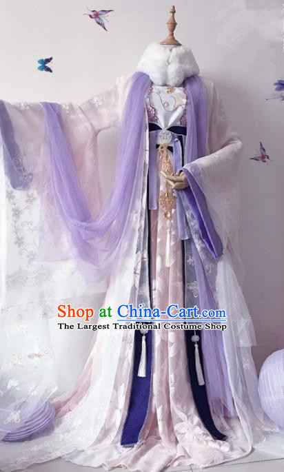Chinese Traditional Cosplay Princess Costume Ancient Tang Dynasty Imperial Consort Hanfu Dress for Women