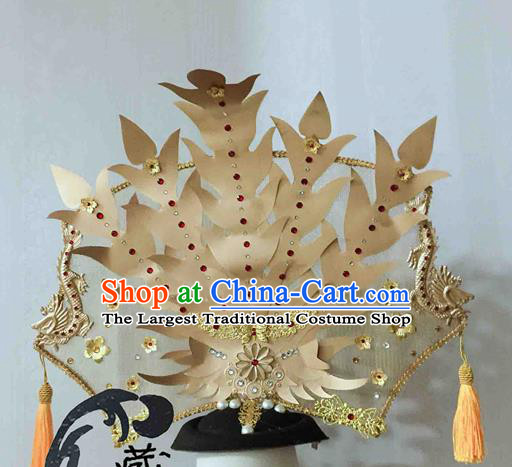 Chinese Traditional Hair Accessories Golden Phoenix Coronet Ancient Imperial Consort Hairpins for Women