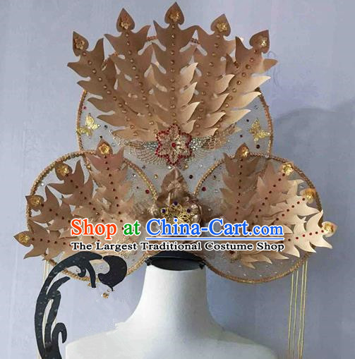 Chinese Traditional Hair Accessories Modern Fancywork Golden Phoenix Coronet Ancient Imperial Consort Hairpins for Women