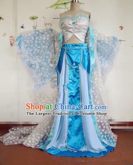 Chinese Traditional Cosplay Flying Apsaras Costume Ancient Imperial Consort Hanfu Dress for Women