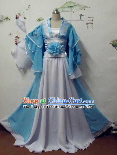 Chinese Traditional Cosplay Apsaras Costume Ancient Tang Dynasty Princess Hanfu Dress for Women