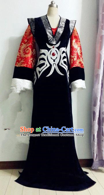 Chinese Traditional Cosplay Presbyter Knight Costume Ancient Swordsman Hanfu Clothing for Men