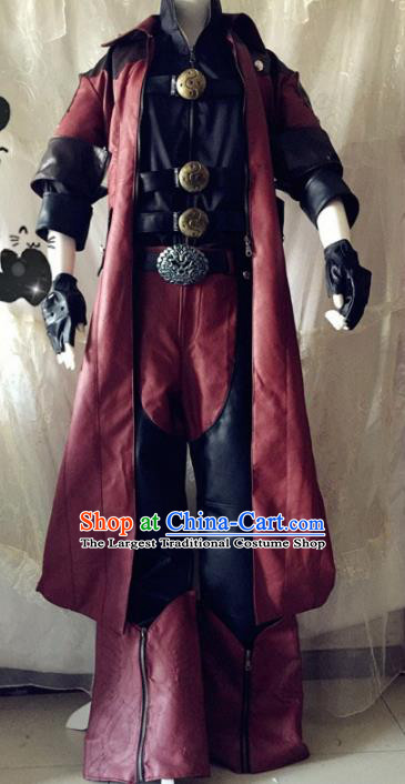 Chinese Traditional Cosplay Knight Black Costume Ancient Swordsman Hanfu Clothing for Men
