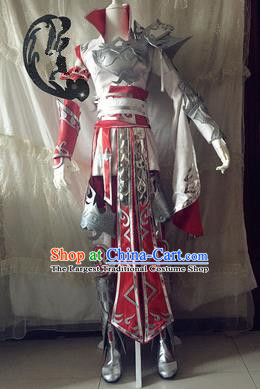 Chinese Traditional Cosplay Swordswoman Armour Costume Ancient Female General Hanfu Dress for Women