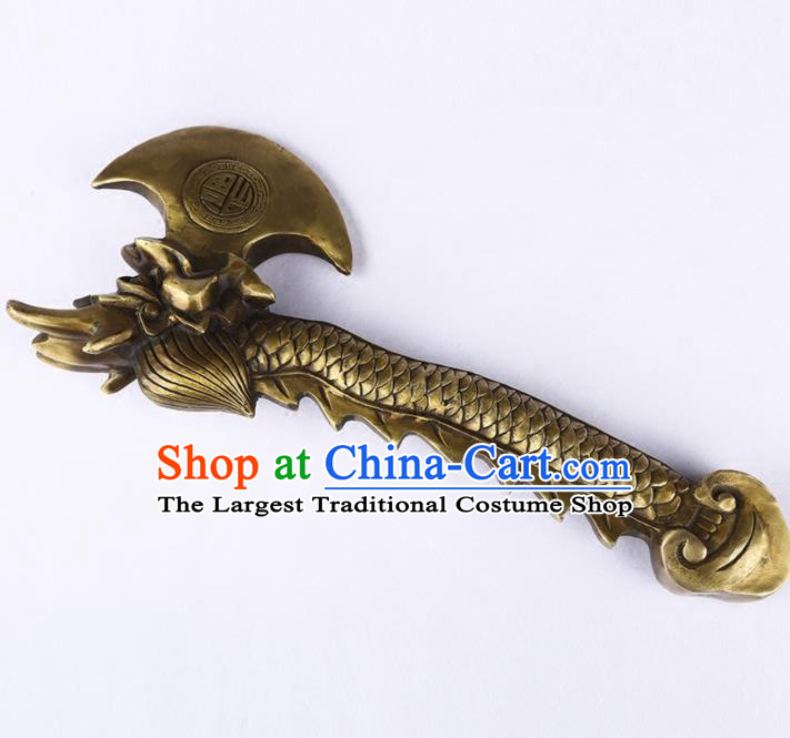 Chinese Traditional Feng Shui Items Buddhism Brass Axe Decoration