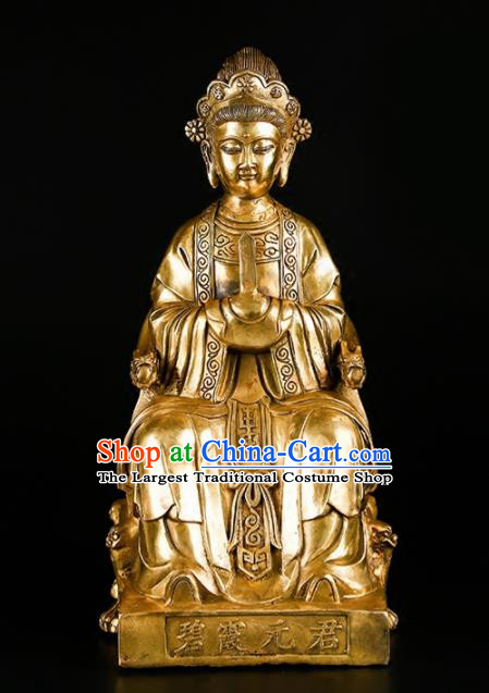 Chinese Traditional Feng Shui Items Taoism Brass Mountain Tai Mother Statue Decoration