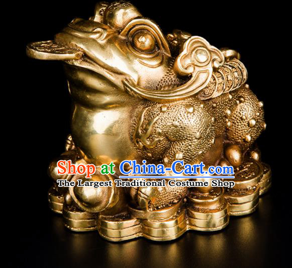 Chinese Traditional Feng Shui Items Taoism Bagua Brass Toad Decoration