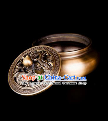 Chinese Traditional Taoism Brass Incense Burner Feng Shui Items Bagua Censer Decoration