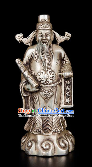 Chinese Traditional Feng Shui Items Taoism Bagua Brass Decoration Bronze Lucky God Statue