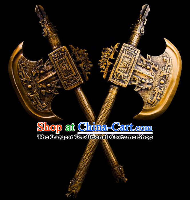 Chinese Traditional Feng Shui Items Taoism Bagua Brass Axe Decoration